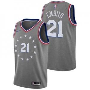 Nike Philadelphia 76ers Nike City Edition Swingman Jersey - Joel Embiid - Mens Philadelphia 76ers Nike City Edition Swingman Jersey - Joel Embiid - Mens