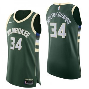 Nike Milwaukee Bucks Nike Icon Authentic Jersey - Giannis Antetokounmpo - Mens Milwaukee Bucks Nike Icon Authentic Jersey - Giannis Antetokounmpo - Mens