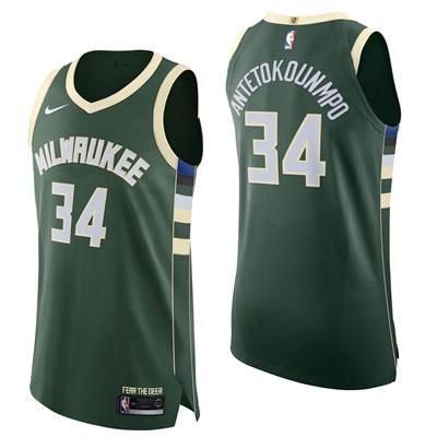 Nike Milwaukee Bucks Nike Icon Authentic Jersey - Giannis Antetokounmpo - Mens Milwaukee Bucks Nike Icon Authentic Jersey - Giannis Antetokounmpo - Mens