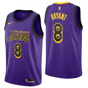 Nike Los Angeles Lakers Nike City Edition Swingman Jersey - No.8 - Kobe Bryant - Mens Los Angeles Lakers Nike City Edition Swingman Jersey - No.8 - Kobe Bryant - Mens
