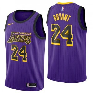 Nike Los Angeles Lakers Nike City Edition Swingman Jersey - No.24 - Kobe Bryant - Mens Los Angeles Lakers Nike City Edition Swingman Jersey - No.24 - Kobe Bryant - Mens