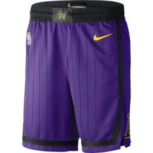Los Angeles Lakers Nike City Edition Swingman Short - Mens