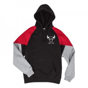 Chicago Bulls Trading Block Hoodie By Mitchell & Ness - Mens