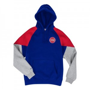 Detroit Pistons Trading Block Hoodie By Mitchell & Ness - Mens
