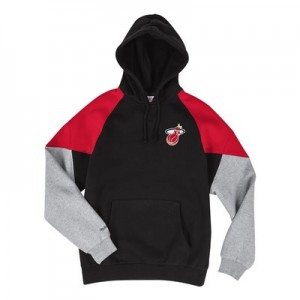 Miami Heat Trading Block Hoodie By Mitchell & Ness - Mens