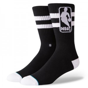 NBA Stance Oversized Logoman Sock - Black - Mens