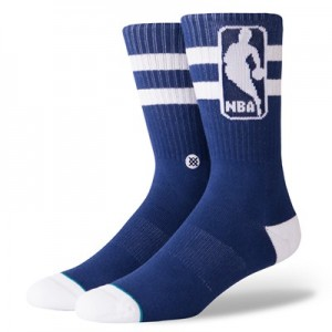 NBA Stance Oversized Logoman Sock - Navy - Mens