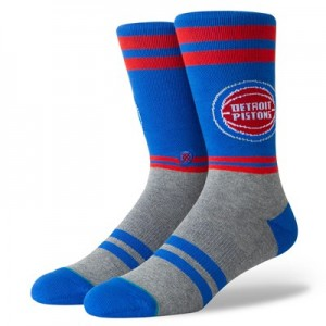 Detroit Pistons Stance City Gym Sock - Mens