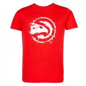 Atlanta Hawks Splatter Team Logo Core T-Shirt - Uni Red - Kids