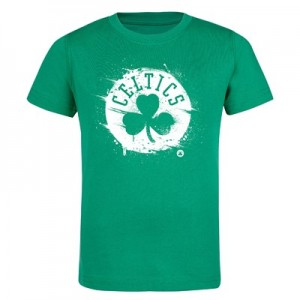 Boston Celtics Splatter Team Logo Core T-Shirt - Bright Kelly - Kids