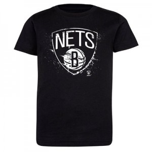 Brooklyn Nets Splatter Team Logo Core T-Shirt - Black - Kids