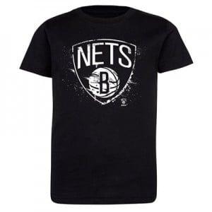 Brooklyn Nets Splatter Team Logo Core T-Shirt - Black - Kids
