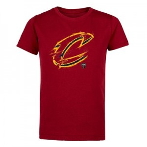 Cleveland Cavaliers Splatter Team Logo Core T-Shirt - Team Red - Kids