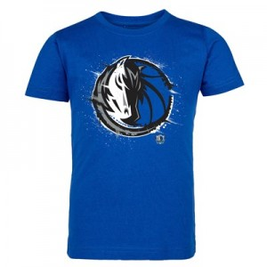 Dallas Mavericks Splatter Team Logo Core T-Shirt - Royal - Kids