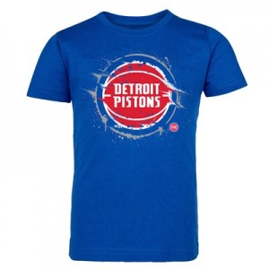 Detroit Pistons Splatter Team Logo Core T-Shirt - Royal - Kids