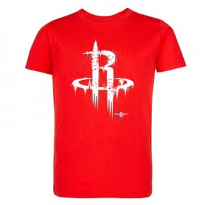 Houston Rockets Splatter Team Logo Core T-Shirt - Uni Red - Kids