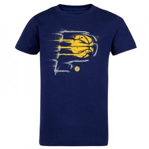 Indiana Pacers Splatter Team Logo Core T-Shirt - Navy - Kids
