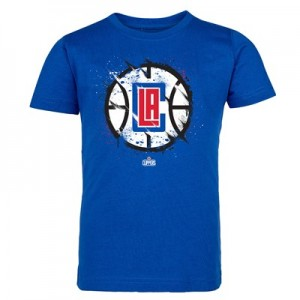 LA Clippers Splatter Team Logo Core T-Shirt - Royal - Kids