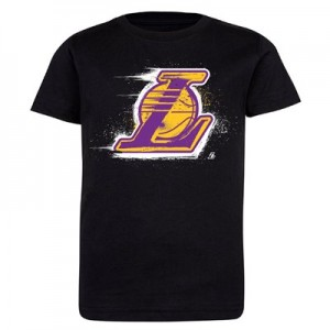 Los Angeles Lakers Splatter Team Logo Core T-Shirt - Black - Kids