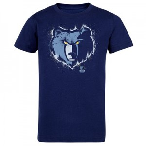 Memphis Grizzlies Splatter Team Logo Core T-Shirt - Navy - Kids