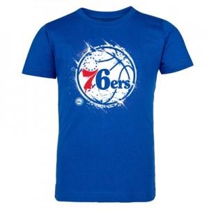 Philadelphia 76ers Splatter Team Logo Core T-Shirt - Royal - Kids