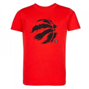 Toronto Raptors Splatter Team Logo Core T-Shirt - Uni Red - Kids