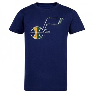 Utah Jazz Splatter Team Logo Core T-Shirt - Navy - Kids