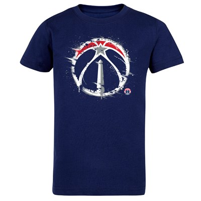 Washington Wizards Splatter Team Logo Core T-Shirt - Navy - Kids