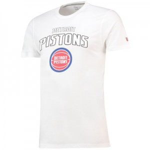 Detroit Pistons New Era Team Logo T-Shirt - Mens