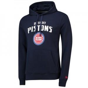 Detroit Pistons New Era Team Logo Hoodie - Mens
