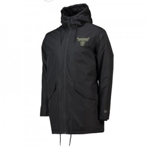 Chicago Bulls New Era Engineered Fit Parka Jacket - Mens