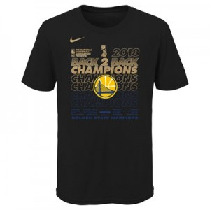 Golden State Warriors Nike Champions 2018 Locker Room T-Shirt - Black - Youth