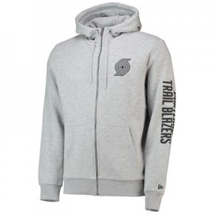Portland Trail Blazers New Era Core Full Zip Hoodie - Mens