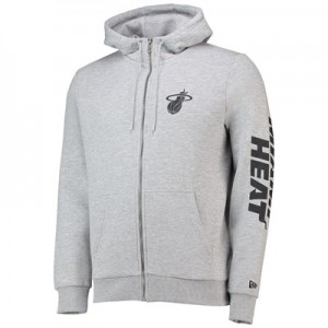 Miami Heat New Era Core Full Zip Hoodie - Mens