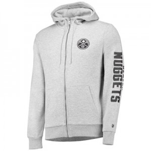 Denver Nuggets New Era Core Full Zip Hoodie - Mens