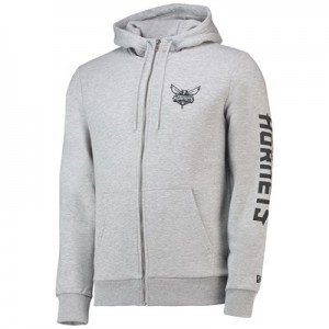 Charlotte Hornets New Era Core Full Zip Hoodie - Mens