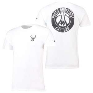 Milwaukee Bucks New Era Core Dual Logo T-Shirt - Mens
