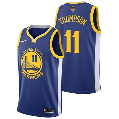 Nike Golden State Warriors Nike Icon Swingman Jersey - Finals Patch - Klay Thompson - Mens Golden State Warriors Nike Icon Swingman Jersey - Finals Patch - Klay Thompson - Mens
