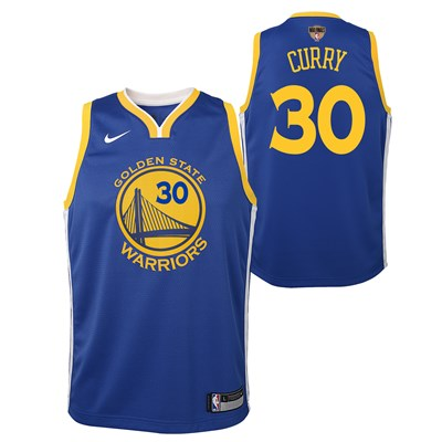 Nike Golden State Warriors Nike Icon Swingman Jersey - Finals Patch - Stephen Curry - Youth Golden State Warriors Nike Icon Swingman Jersey - Finals Patch - Stephen Curry - Youth