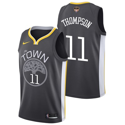 Nike Golden State Warriors Nike Statement Swingman Jersey - Finals Patch - Klay Thompson - Mens Golden State Warriors Nike Statement Swingman Jersey - Finals Patch - Klay Thompson - Mens