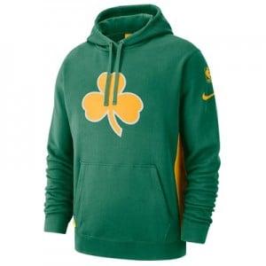 Boston Celtics Nike Earned Edition Courtside Hoodie - Mens