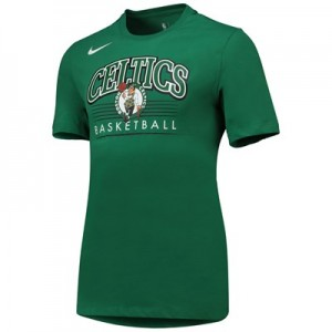 Boston Celtics Nike Crest Logo T-Shirt - Clover - Mens