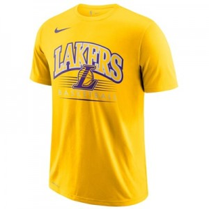 Los Angeles Lakers Nike Crest Logo T-Shirt - Amarillo - Mens