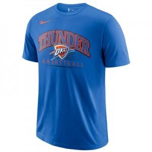 Oklahoma City Thunder Nike Crest Logo T-Shirt - Signal Blue - Mens