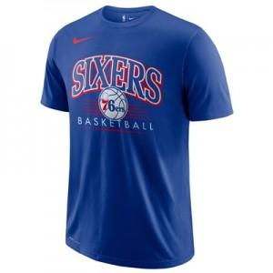 Philadelphia 76ers Nike Crest Logo T-Shirt - Rush Blue - Mens