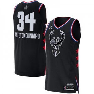 Nike NBA Jordan All-Star 2019 Black Authentic Jersey - Giannis Antetokounmpo - Mens NBA Jordan All-Star 2019 Black Authentic Jersey - Giannis Antetokounmpo - Mens