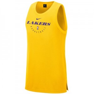 Los Angeles Lakers Nike Elite Practise Tank - Mens