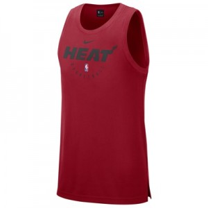 Miami Heat Nike Elite Practise Tank - Mens