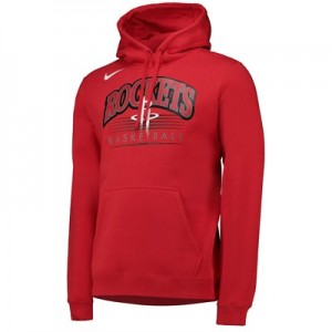 Houston Rockets Nike Crest Logo Hoodie - University Red - Mens
