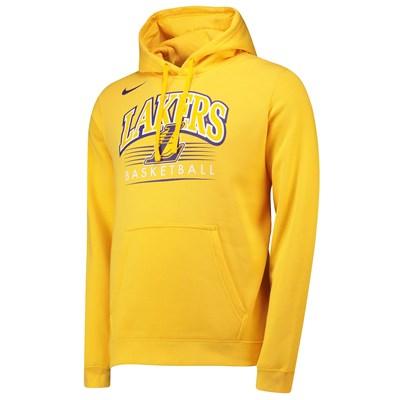 Los Angeles Lakers Nike Crest Logo Hoodie - Amarillo - Mens